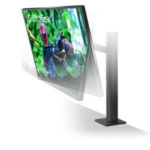 Монитор жидкокристаллический LG Монитор LCD 27'' [16:9] 2560х1440(WQHD) IPS, nonGLARE, 350cd/m2, H178°/V178°, 1000:1, Mega, 1.07B, 1ms, 2xHDMI, DP, Height adj, Pivot, Tilt, Swivel, 2Y, Black