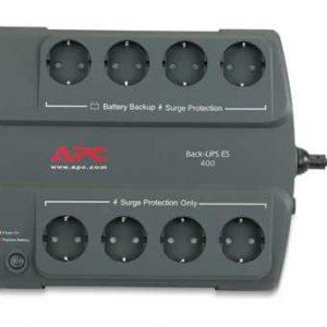 Источник бесперебойного питания APC Back-UPS ES, OffLine, 400VA / 240W, Tower, Schuko
