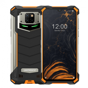 Смартфон Doogee S88 PRO Fire Orange, 6.3'' 1080x2340, 4x2,0GHz+4x2,1GHz, 8 Core, 6GB RAM, 128GB, up to 256GB flash, 21МП + 8МП + 8МП/16Mpix, 2 Sim, 2G, 3G, LTE, BT, Wi-Fi, NFC, GPS, Type-C, 10000 мА·ч, Android 10, 372 г, 171,6 ммx85,4 ммx18.7 мм