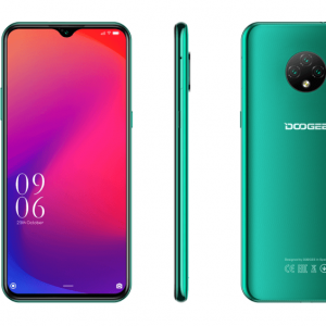 "Смартфон Doogee X 95 Emerald Green, 16,56 см (6.52"") 540 x 1200 пикселей, 1.3GHz, 4 Core, 2GB RAM, 16GB, up to 128GB flash, 13 МП+2 МП+2 МП/5Mpix, 2 Sim, 2G, 3G, LTE, BT, Wi-Fi, GPS, Micro-USB, 4350 мА·ч, Android 10.0, 178g, 167 ммx77,4 ммx8,9 мм"