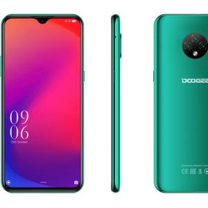 "Смартфон Doogee X 95 Emerald Green, 16,56 см (6.52"") 540 x 1200 пикселей, 1.3GHz, 4 Core, 2GB RAM, 16GB, up to 128GB flash, 13 МП+2 МП+2 МП/5Mpix, 2 Sim, 2G, 3G, LTE, BT, Wi-Fi, GPS, Micro-USB, 4350 мА·ч, Android 10.0, 178g, 167 ммx77,4 ммx8,9 мм"