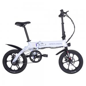 """Электровелосипед HIPER Engine BL140, 16"""" колеса, 350 Вт мотор, 288 Втч батарея, складной, алюминивая рама, белый жемчуг"""