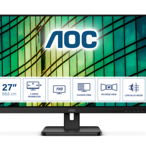 Монитор жидкокристаллический AOC LCD 27'' [16:9] 1920х1080(FHD) IPS, nonGLARE,