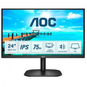 Монитор жидкокристаллический AOC Монитор LCD 23.8'' [16:9] 1920х1080(FHD) IPS, nonGLARE, 250cd/m2, H178°/V178°, 1000:1, 20M:1, 16.7M, 7ms, VGA, HDMI, Tilt, 3Y, Black Logr