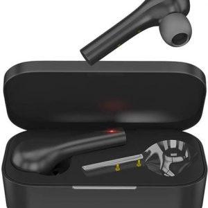 Беспроводные наушники HIPER TWS PULL Bluetooth 5.0 гарнитура Li-Pol 2x40mAh+400mAh черный