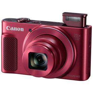 """Фотоаппарат цифровой Canon PowerShot SX620 HS красный, 20Mpx CMOS, zoom 80x, оптическая стаб., 1920×1080, экран 3.0"""", Wi-fi и NFC, GPS через смартфон, Li-ion"""